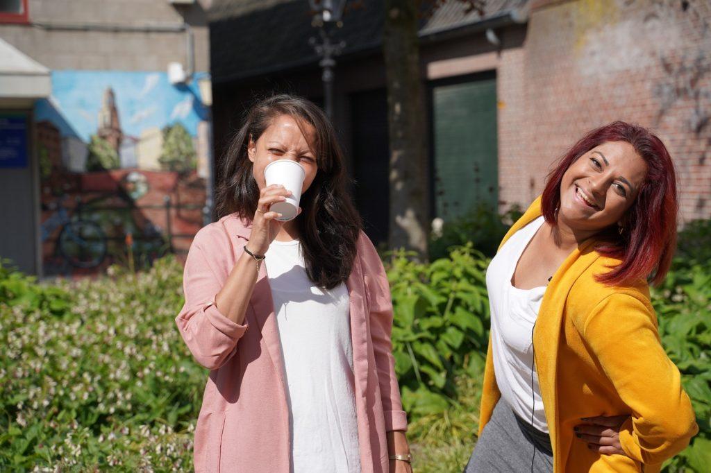 Nadia en Kiki Horecaburgemeester