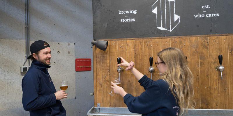 Eleven Brewery - eigenaren Loes en Kevin